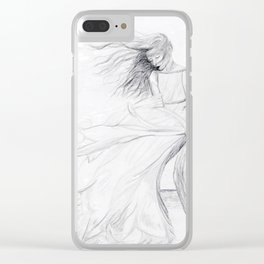Gracefully Weathering the Storm Clear iPhone Case