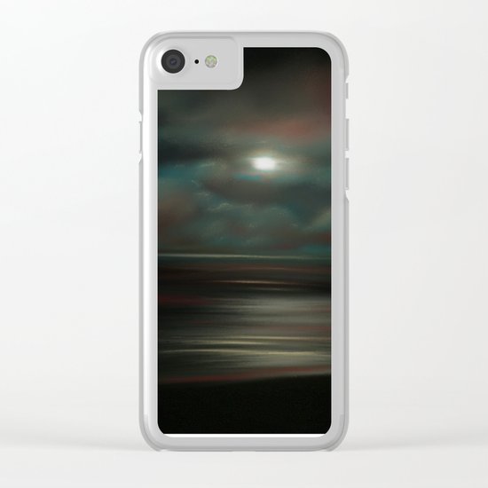 ToThe Moon & Back Clear iPhone Case