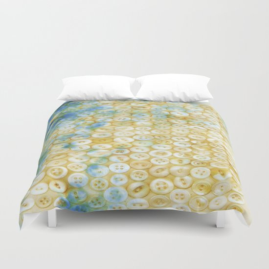 Buttons  - JUSTART ©, digital art Duvet Cover