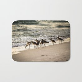 Birds on the Beach of Anna Maria Island Bath Mat