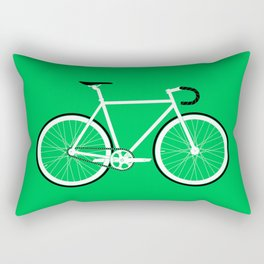 Green Fixed Gear Road Bike Rectangular Pillow
