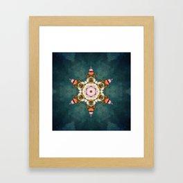 butterfly Medallion Framed Art Print
