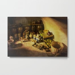 Harvest in the cellar of the farm Metal Print