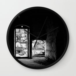 Sassi di Matera: home Wall Clock