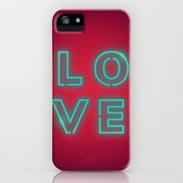 Love design neon sign iPhone Case