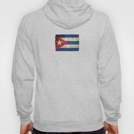 Old and Worn Distressed Vintage Flag of Cuba Hoody