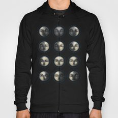moon phases and textured darkness Hoody
