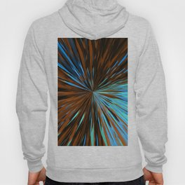 psychedelic splash painting abstract pattern in brown and blue Hoody