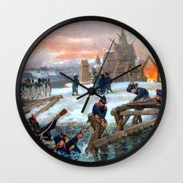 "Sir Lawrence Alma-Tadema ""The Crossing of the River Berizina"" Wall Clock"