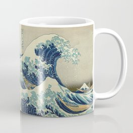 Illustration of blue japanese wave Coffee Mug
