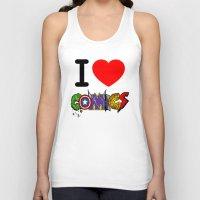 dc comics Tank Tops featuring I LOVE COMICS by DeMoose_Art