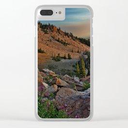 Mountain Smoke Clear iPhone Case
