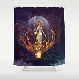 Beautiful fairy  Shower Curtain
