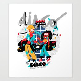 Disco Mix Art Print