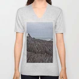 The Ends of the Earth are Frozen in Time Unisex V-Neck