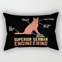 German Shepherd Gift: Superior German Engineering Rectangular Pillow