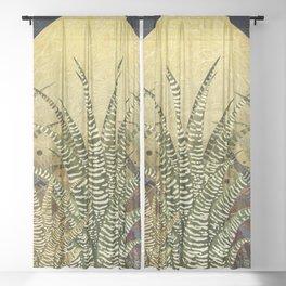 """Golden aloe Zebra midnight sun"" Sheer Curtain"