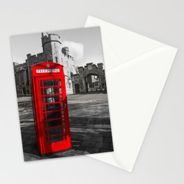 Red Telephone Box at Windsor Castle Stationery Cards