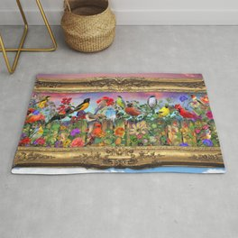 Birds and Blooms Rug