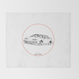 Crazy Car Art 0216 Throw Blanket
