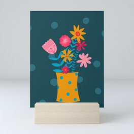 Spotty Flowers Mini Art Print