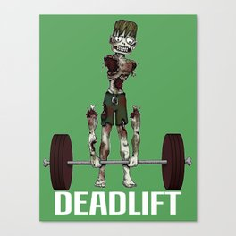Crossfit Zombie by RonkyTonk doing Deadlift Canvas Print
