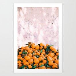 Orange & Pale Pink Art Print