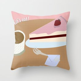 Let's Eat! Throw Pillow