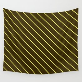 Brown And Yellow Stripes Wall Tapestry