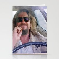 the big lebowski Stationery Cards featuring Lebowski  by Swift Sloth