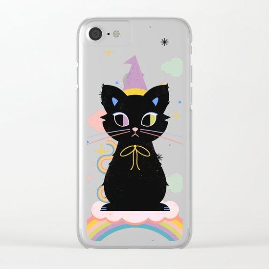 Rainbow Familiar Clear iPhone Case