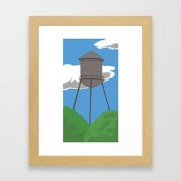 Watertower Framed Art Print