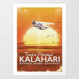 Kalahari Desert Adventure travel poster Art Print