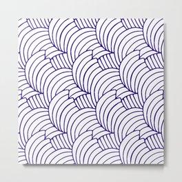 """Koloman (Kolo) Moser """"Textile pattern (Bogen)"""" (6) Metal Print"""