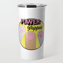 Power to the Puppers Travel Mug