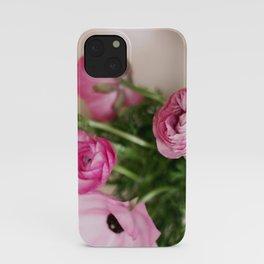 Pink Ranunculus iPhone Case