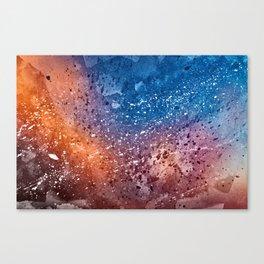 Vibrant Acrylic Texture Canvas Print