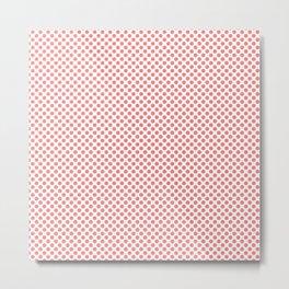 Shell Pink Polka Dots Metal Print