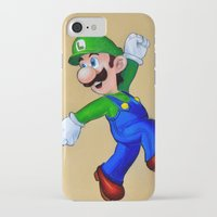 luigi iPhone & iPod Cases featuring luigi  by eyal mor