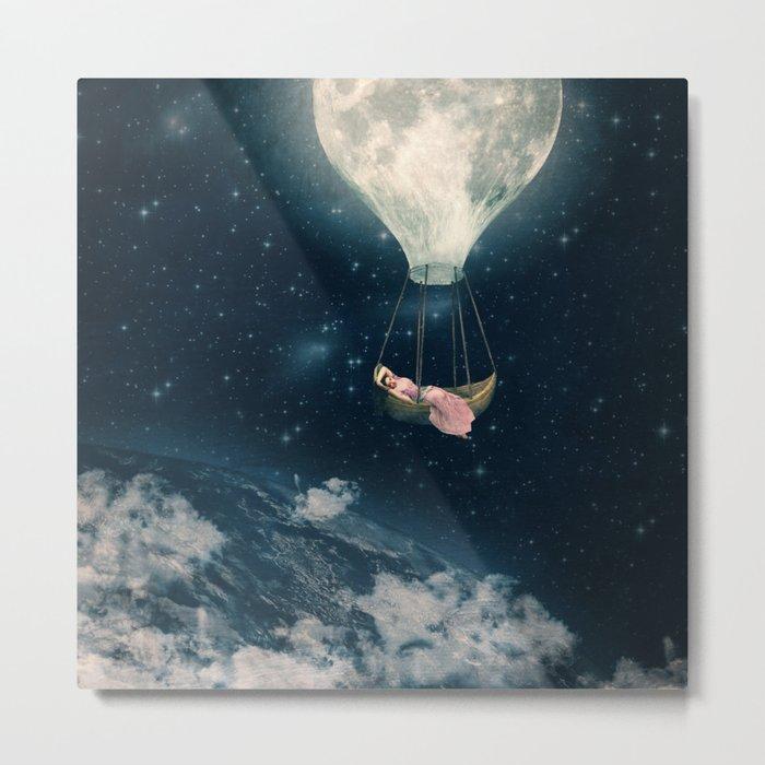 The Moon Carries Me Away Metal Print