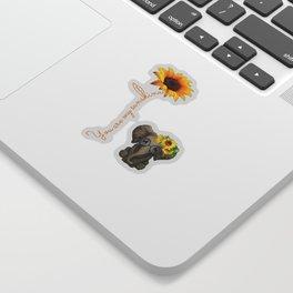 You Are My Sunshine Hippie Sunflower Elephant Sticker
