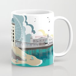 Brighton England Art Print Coffee Mug