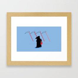 Decision Framed Art Print