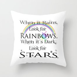 When it Rains... Throw Pillow