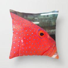 Fish Up Close Throw Pillow
