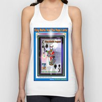 merlin Tank Tops featuring KING MERLIN by KEVIN CURTIS BARR'S ART OF FAMOUS FACES