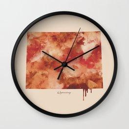 Wyoming Watercolor State Wall Clock