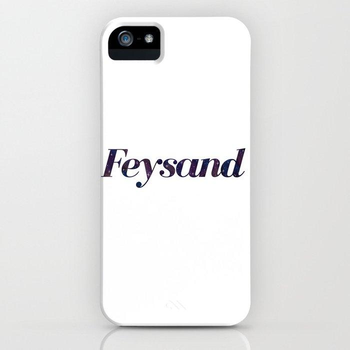 Feysand galaxy design white iPhone Case