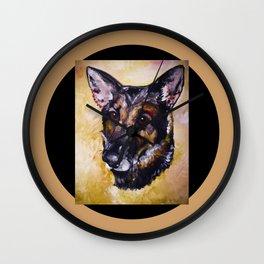 """Painted at age 16 """"German Shepherd"""" Wall Clock"""