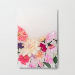 Crepe paper flowers Metal Print